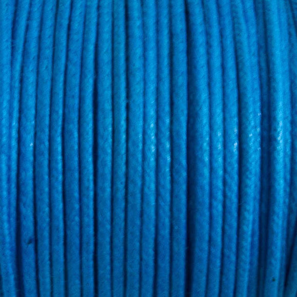 cord .77mm waxed cotton turquoise 25mtrs
