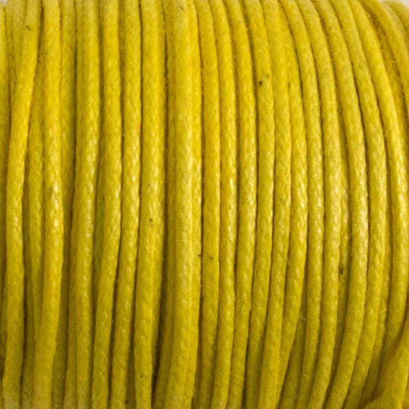 cord .77mm waxed cotton lemon 25 mtrs