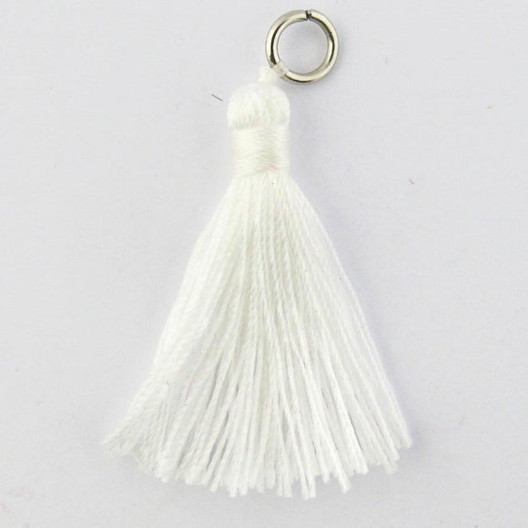 Thread 30mm Tassel white 4pcs