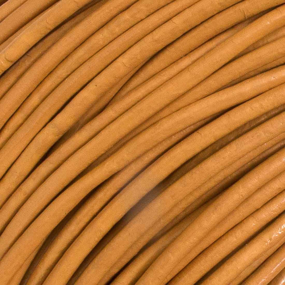 Leather 1mm round China natural 100m