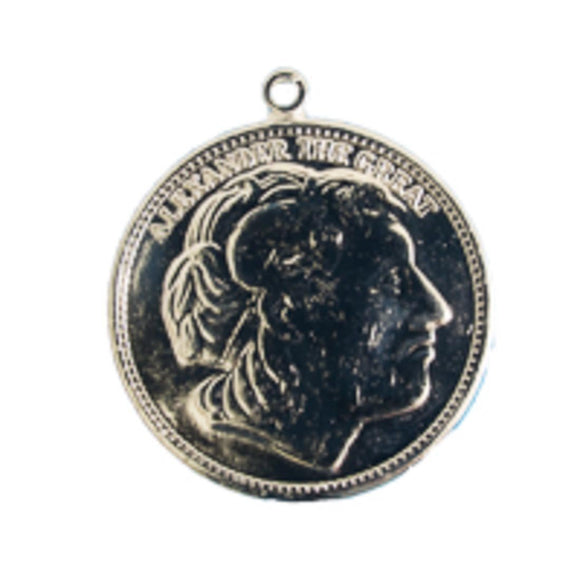 Metal casting 23mm rnd coin GREEK nkl 1
