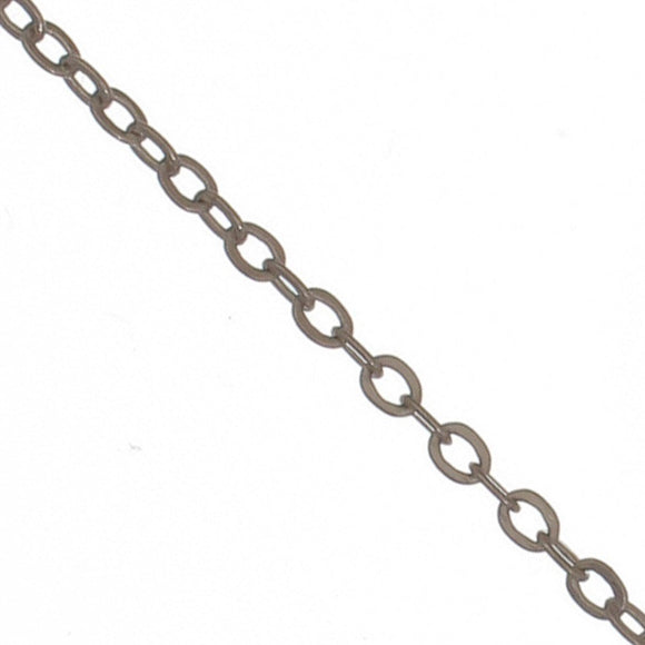 Metal chain 2.3x1.9mm flat NF nk 100m