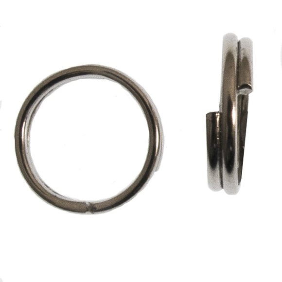 Metal 8mm rnd split ring NF nkl 50pcs
