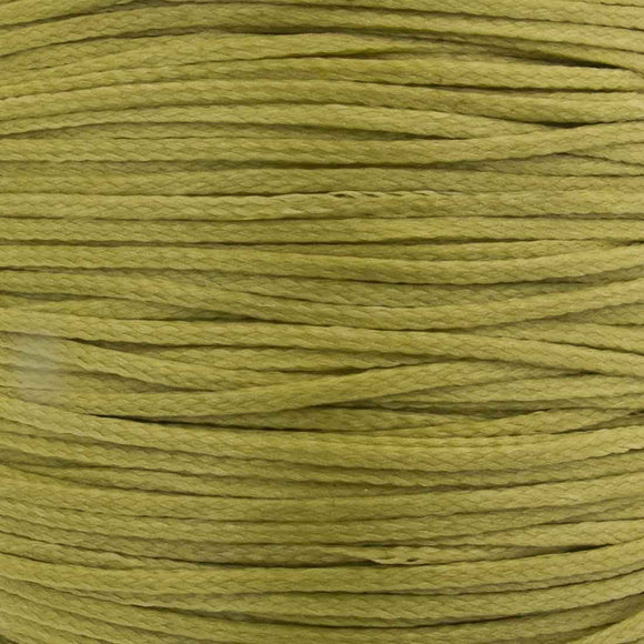 Waxed 1mm cord Antique gold 40metres