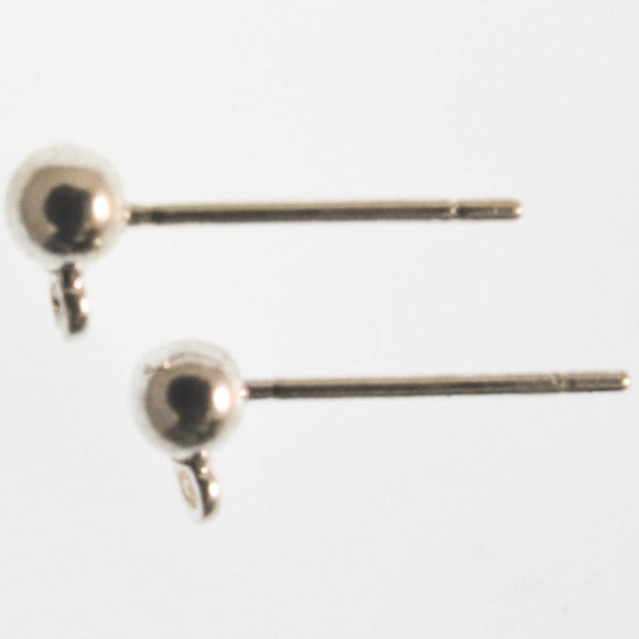 Metal 3.mm ball stud silver 6sets