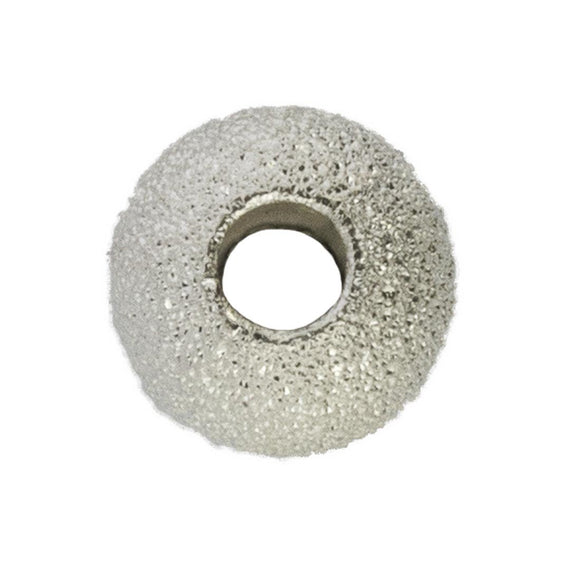 Sterling Sil 10mm rnd 3.5* hole spkle1p