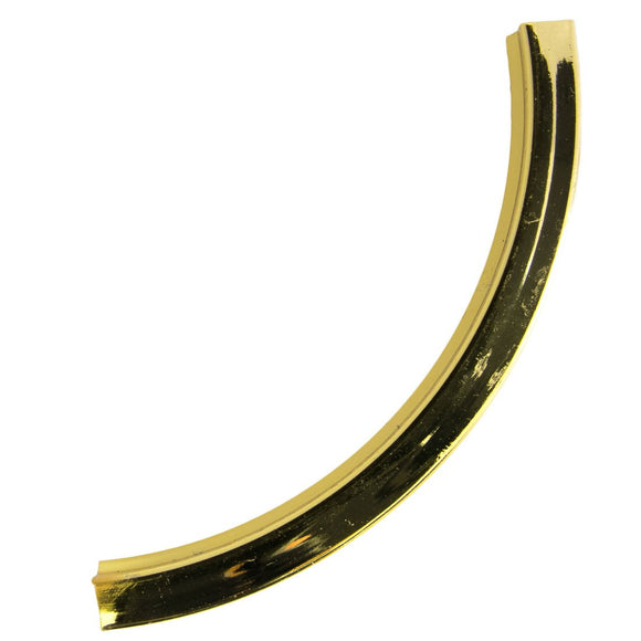 metal 4x50mm squ curved tube NF gld 4pcs
