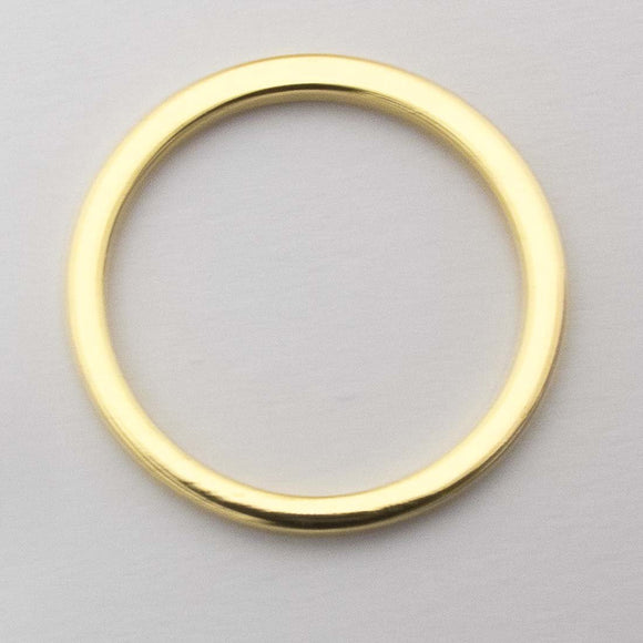 Metal 19mm ring NF gold 2pcs