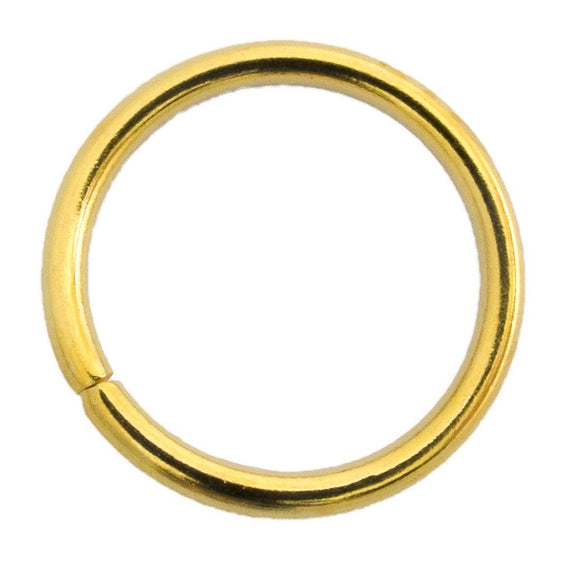 Metal 20mm x 2mm jumpring gold 6pcs