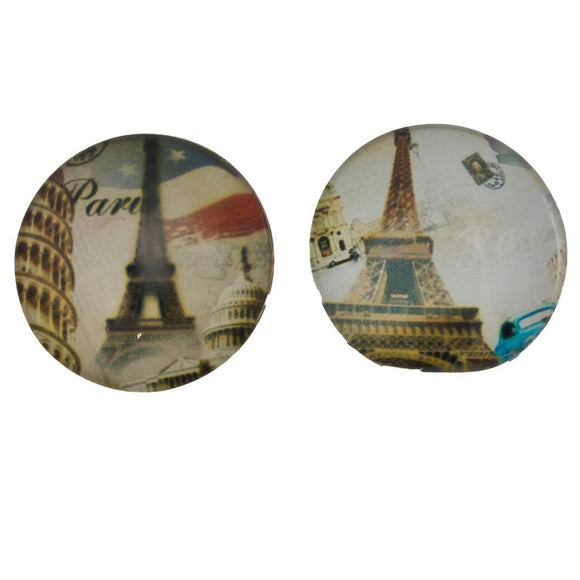 Cg 25mm Paris cabochon mixed 2pcs