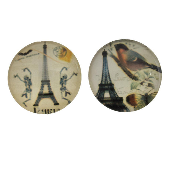 Cg 20mm Paris cabochon mixed 2pcs