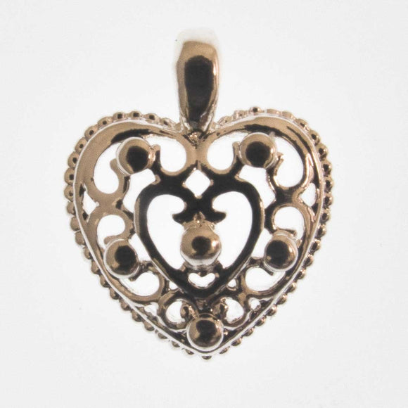 Metal 12mm heart /loop NF sil 6pcs