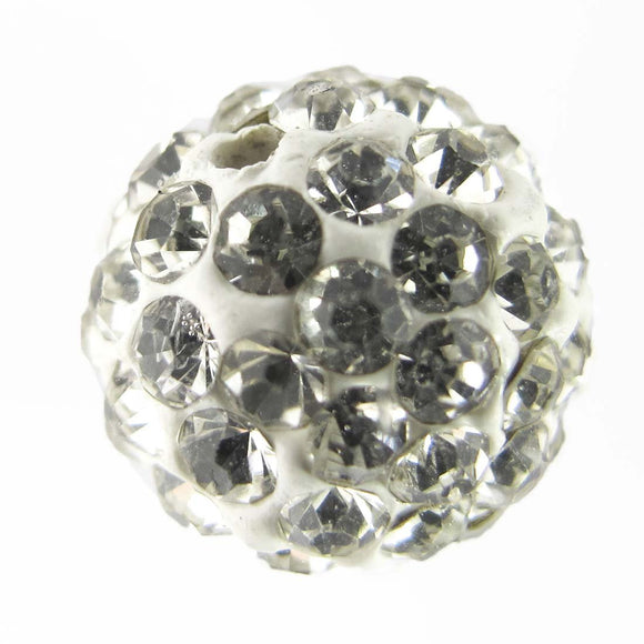 Diamante 12mm rnd white/clr 4pcs