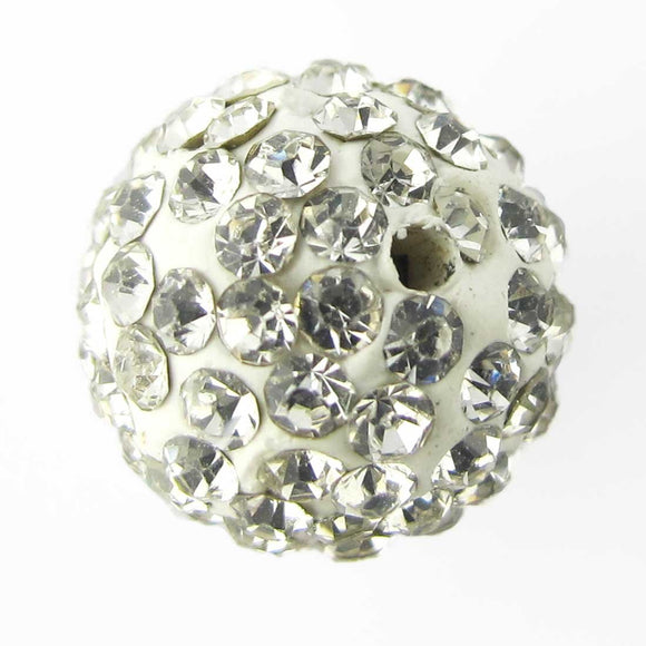 Diamante 14mm rnd white/clr 2pcs