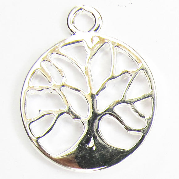 Metal 15mm tree of life pdnt NF SIL 10