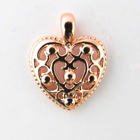 Metal 12mm heart /loop NF R Gld 10pcs
