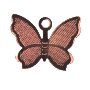 metal 11x14mm bfly charm rgld 20pcs