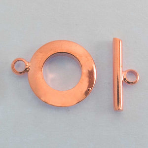 Metal 12mm FOB (thick) NF ROSE GLD 3set