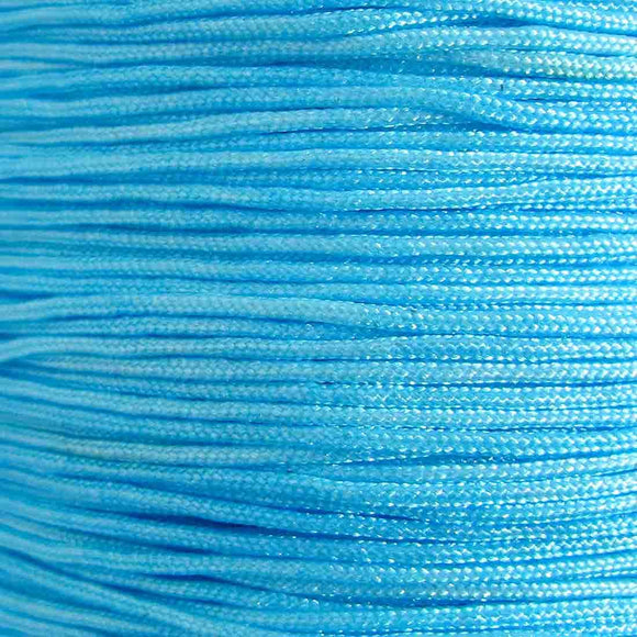 Cord 1mm rnd woven turquoise 40 metres