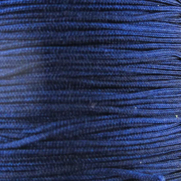 Cord 1mm rnd woven navy blue 40 metres