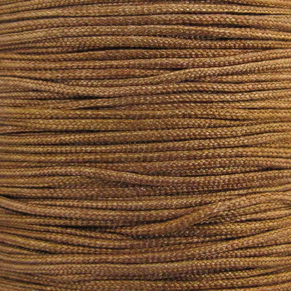 Cord 1mm rnd woven nut 40 metres