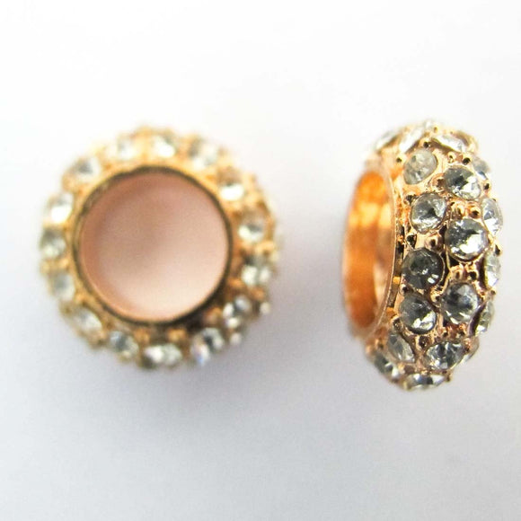 Metal 5x12mm diamlge hole rose gold 4pcs