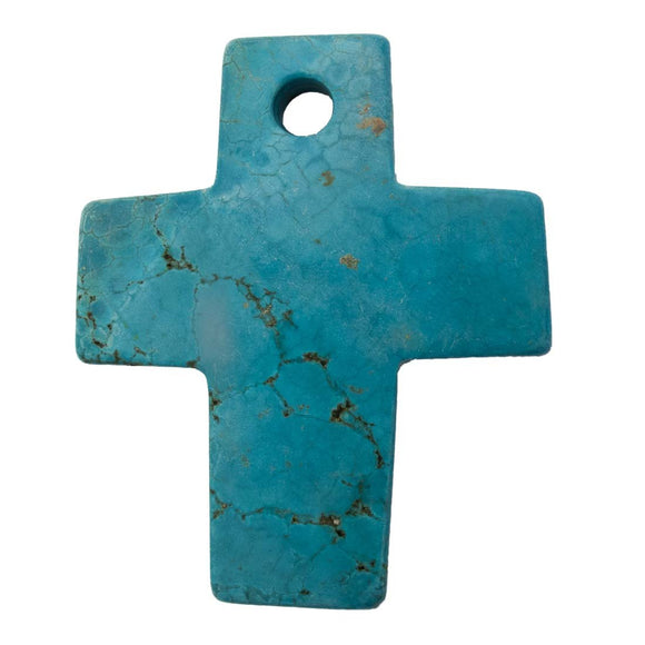 Semi prec 8x60mm cross hlite turq 1pc