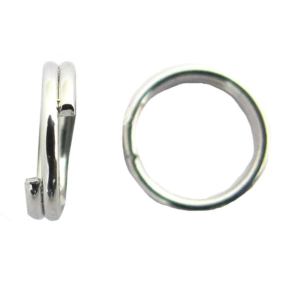 Metal 6mm split rings NF SIL 50pcs