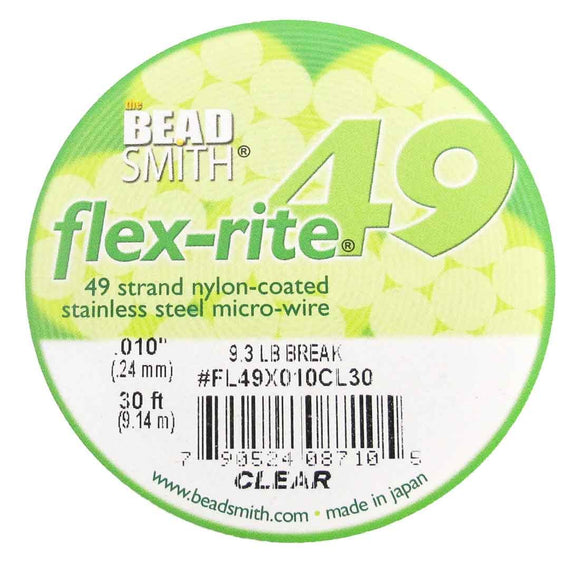Flexrite .24mm 49str 9.3lb clear 9.14m