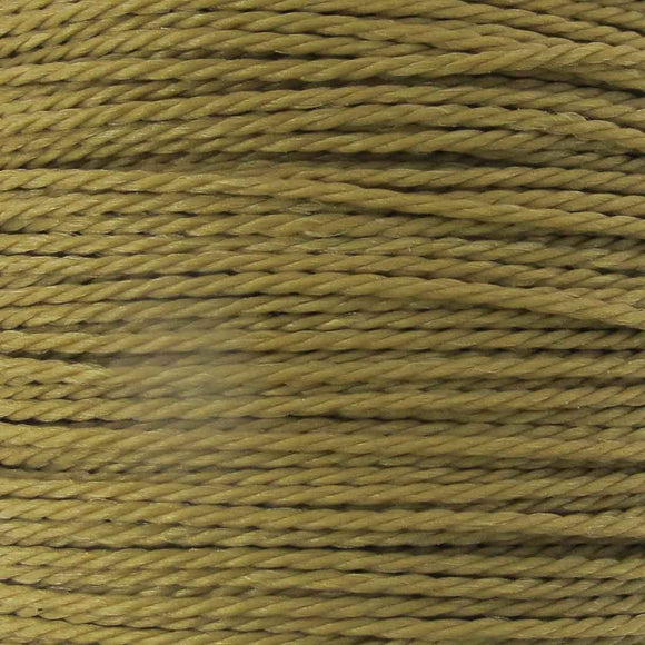 Cord 1mm twisted latte 30mtrs