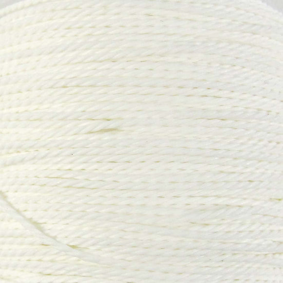 Cord 1mm twisted milky white 30mtrs
