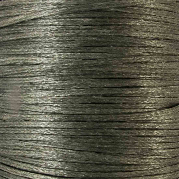 Waxed 1mm cord slate 40metres