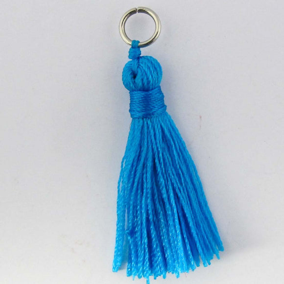 Thread 30mm Tassel blue 4pcs