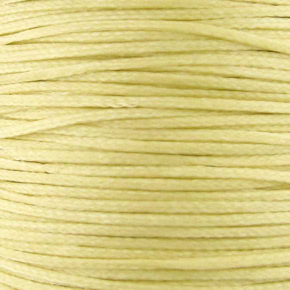 Waxed 1mm cord dark cream 40 mtrs