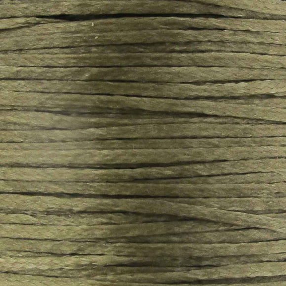 Waxed 1mm cord taupe 40mtrs