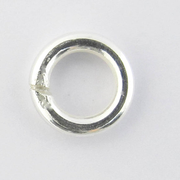 Sterling sil 6mm x 1.2mm SOLDERED 4pcs