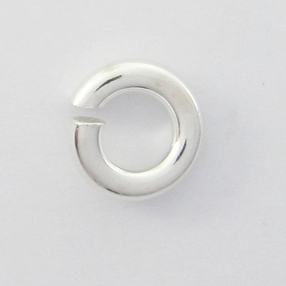 Sterling sil 5mm x 1.2mm jumpr ring 8pcs