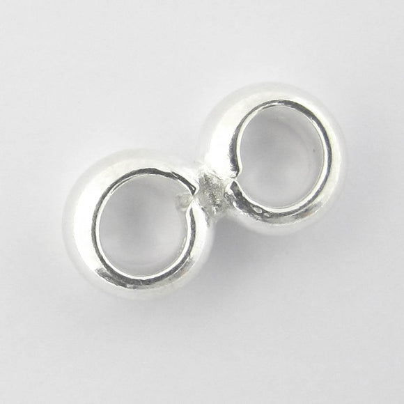 Sterling sil 3mm Double ring 1pc