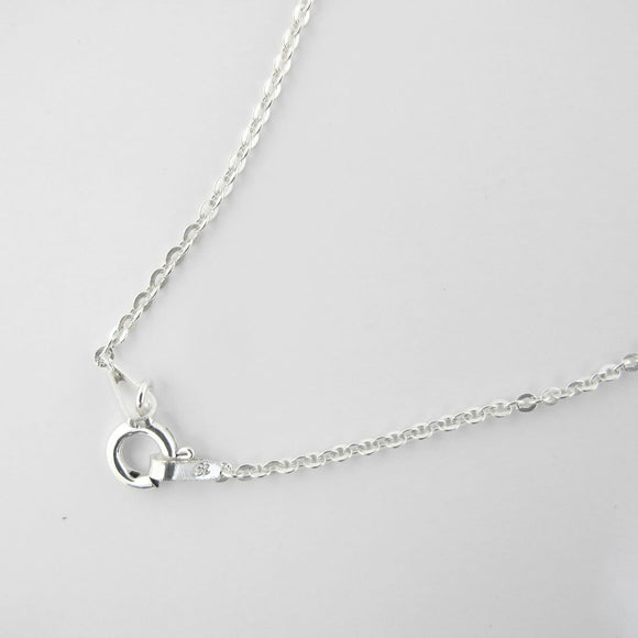 Sterling sil 45cm chain necklace 1pc