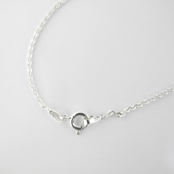 Sterling sil 60cm chain necklace 1pc