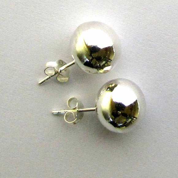 Sterling Sil 12mm rnd ball stud 2pcs