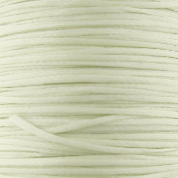 Waxed 1mm cord ivory 40 metres