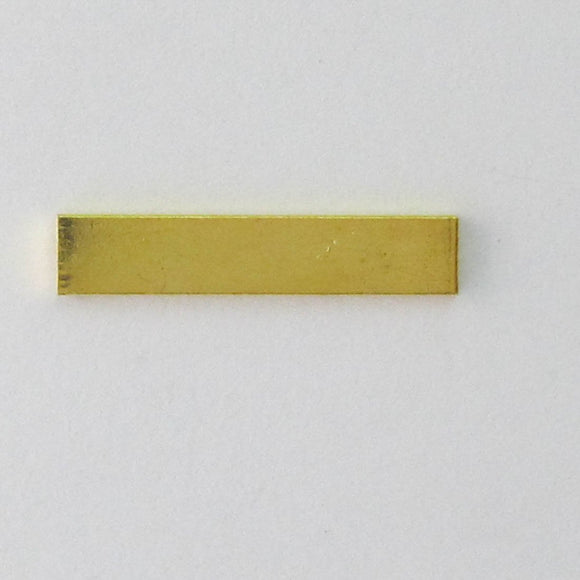 Metal 30x5mm flat gold bar 50pcs