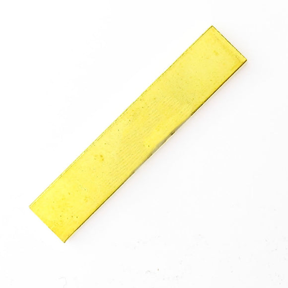 Metal 25x5mm flat gold bar 10pcs
