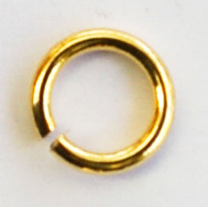 metal 5x.8mm jump ring NF gold 100pcs