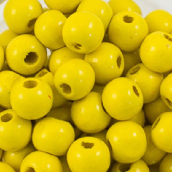Wood 12mm rnd yellow 250g/450p