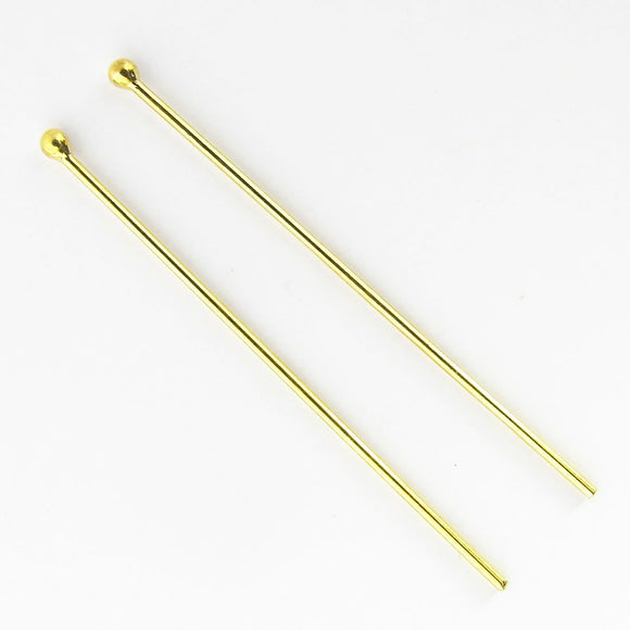 14k Gold 40mmx.8mm head pin 4pcs