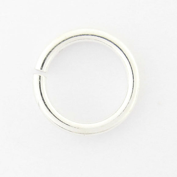 Sterling sil 9x1.5mm jumpring silver 10p
