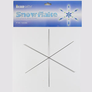 Metal 23cm 1mm snowflake 4pcs