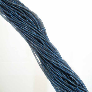 CG 3X4mm facetd rondel matt De BLUE 125p
